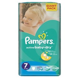 Pack 33 Couches Pampers Active Baby Dry taille 7 sur 123 Couches