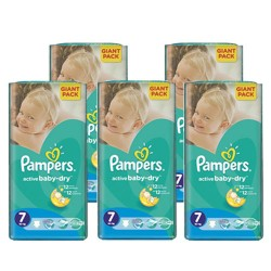 Pack 66 Couches Pampers Active Baby Dry taille 7 sur 123 Couches