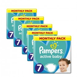 Pack 99 Couches Pampers Active Baby Dry taille 7 sur 123 Couches
