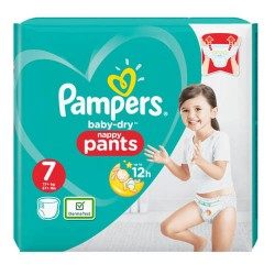 Pack 40 Couches Pampers Baby Dry Pants taille 7 sur 123 Couches