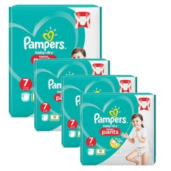 Mega pack 160 Couches Pampers Baby Dry Pants taille 7 sur 123 Couches
