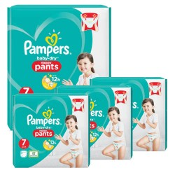 Giga pack 240 Couches Pampers Baby Dry Pants taille 7 sur 123 Couches