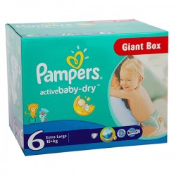 Giga Pack 144 couches Pampers Active Baby Dry sur 123 Couches