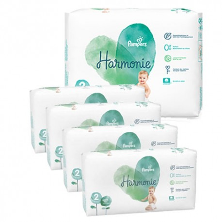 Pack jumeaux 702 Couches Pampers Harmonie taille 2 sur 123 Couches