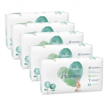 Pack jumeaux 780 Couches Pampers Harmonie taille 2 sur 123 Couches
