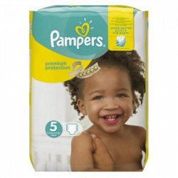 Pack 20 Couches Pampers Premium Protection taille 5 sur 123 Couches