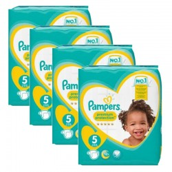 Pack 40 Couches Pampers Premium Protection taille 5 sur 123 Couches