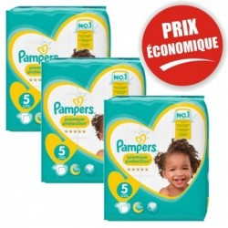 Giga pack 260 Couches Pampers Premium Protection taille 5 sur 123 Couches