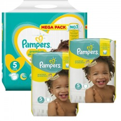 Maxi mega pack 440 Couches Pampers Premium Protection taille 5 sur 123 Couches