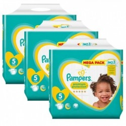 Maxi mega pack 480 Couches Pampers Premium Protection taille 5 sur 123 Couches