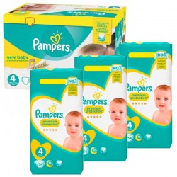 Pack 48 Couches Pampers Premium Protection taille 4 sur 123 Couches