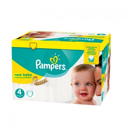 Maxi giga pack 336 Couches Pampers Premium Protection taille 4 sur 123 Couches