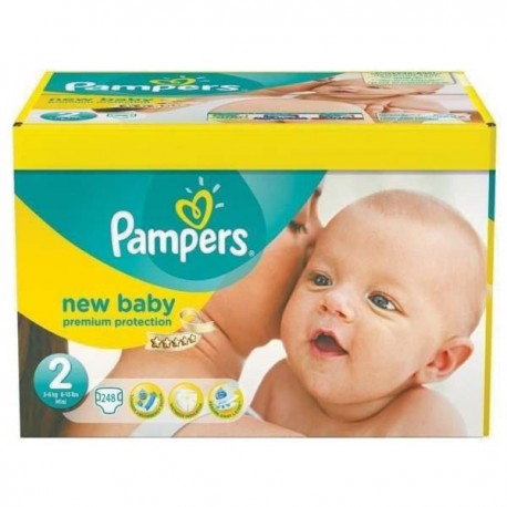 Mega pack 186 Couches Pampers Premium Protection taille 2 sur 123 Couches