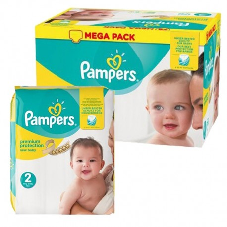 Maxi mega pack 403 Couches Pampers Premium Protection taille 2 sur 123 Couches