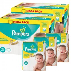 Pack jumeaux 589 Couches Pampers Premium Protection taille 2