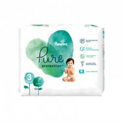 Pack 22 Couches Pampers Pure Protection taille 3 sur 123 Couches