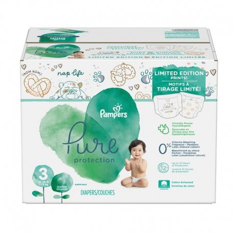 Maxi giga pack 308 Couches Pampers Pure Protection taille 3 sur 123 Couches