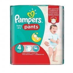 Pack 30 Couches Pampers Baby Dry Pants taille 4 sur 123 Couches