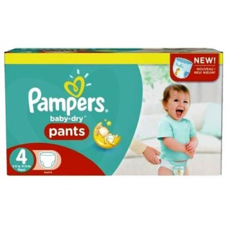 Giga pack 270 Couches Pampers Baby Dry Pants taille 4 sur 123 Couches