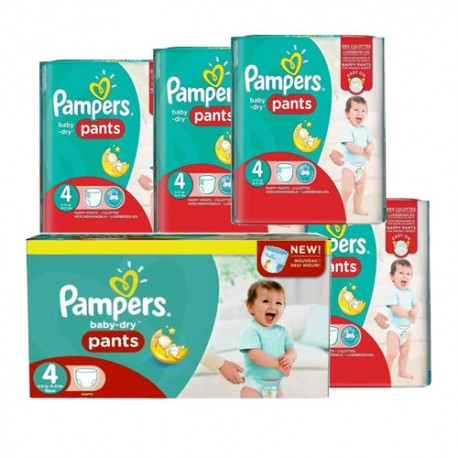 Maxi giga pack 390 Couches Pampers Baby Dry Pants taille 4 sur 123 Couches