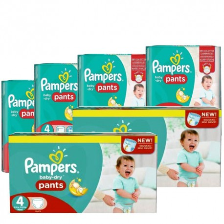 Maxi mega pack 420 Couches Pampers Baby Dry Pants taille 4 sur 123 Couches
