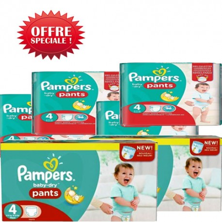 Maxi mega pack 450 Couches Pampers Baby Dry Pants taille 4 sur 123 Couches