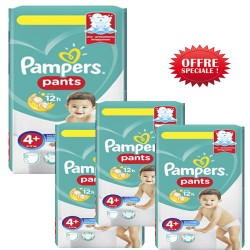 Mega pack 100 Couches Pampers Baby Dry Pants taille 4+ sur 123 Couches