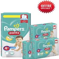 Giga pack 200 Couches Pampers Baby Dry Pants taille 4+ sur 123 Couches