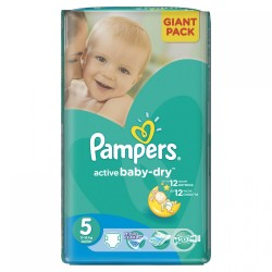 Pack 22 Couches Pampers Active Baby Dry taille 5 sur 123 Couches