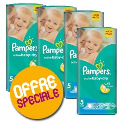 Mega pack 132 Couches Pampers Active Baby Dry taille 5 sur 123 Couches