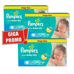 Mega pack 154 Couches Pampers Active Baby Dry taille 5 sur 123 Couches
