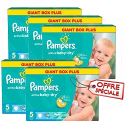 Giga pack 286 Couches Pampers Active Baby Dry taille 5