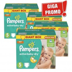 Maxi giga pack 308 Couches Pampers Active Baby Dry taille 5