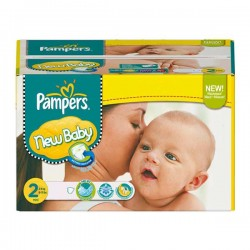 Pack économique 288 Couches Pampers New Baby Dry de taille 2 sur 123 Couches