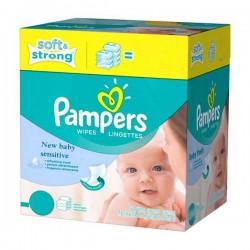 Pack de 528 Lingettes Bébés Pampers New Baby Sensitive - 66 Packs de 8