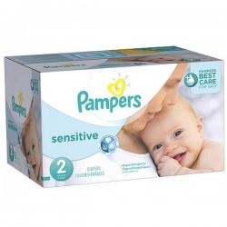 Pack 280 Couches de la marque Pampers New Baby Sensitive de taille 2 sur 123 Couches