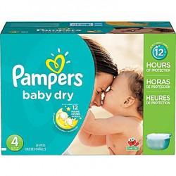 Pack économique de 312 Couches Pampers Baby Dry de taille 4 sur 123 Couches