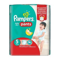 Pack 52 Couches Pampers Baby Dry Pants taille 5