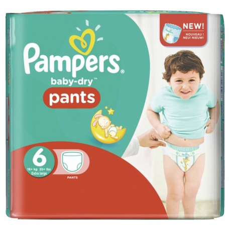 Pack 58 Couches Pampers Baby Dry Pants taille 6 sur 123 Couches