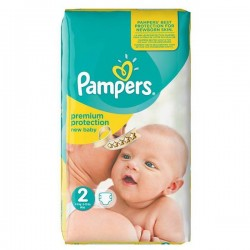 Pack 31 Couches Pampers New Baby Premium Protection taille 2 sur 123 Couches