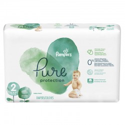 Pack 27 Couches Pampers Pure Protection taille 2