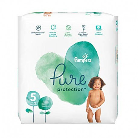 Pack 17 Couches Pampers Pure Protection taille 5 sur 123 Couches