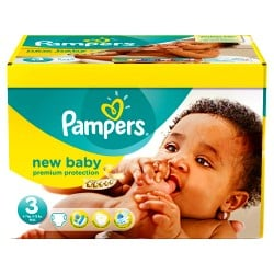 180 Couches Pampers New Baby Premium Protection taille 3 sur 123 Couches