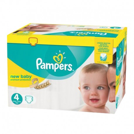 180 Couches Pampers New Baby Premium Protection taille 4 sur 123 Couches