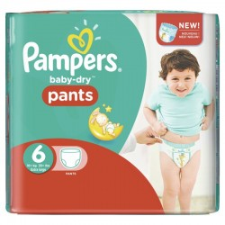 Pack 28 Couches Pampers Baby Dry Pants taille 6 sur 123 Couches