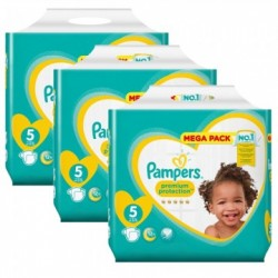 Mega pack 150 Couches Pampers New Baby Premium Protection taille 5 sur 123 Couches