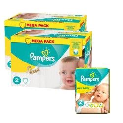 160 Couches Pampers New Baby Premium Protection taille 2 sur 123 Couches