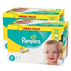 Maxi giga pack 320 Couches Pampers New Baby Premium Protection taille 2 sur 123 Couches