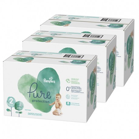 Giga pack 297 Couches Pampers Pure Protection taille 2 sur 123 Couches