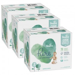 Maxi giga pack 378 Couches Pampers Pure Protection taille 2 sur 123 Couches
